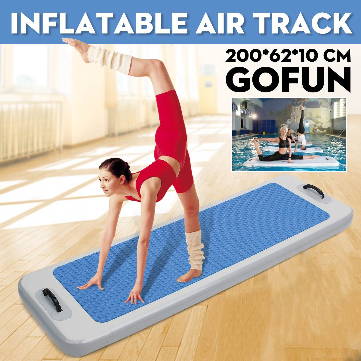 NEW Inflatable Floating Yoga Mat Air Tumbling Track For Gymnastics DWFPaddle Boards Yoga Air Mattress Mat With Air PumpNEW Inflatable Floating Yoga Mat Air Tumbling Track For Gymnastics DWFPaddle Boards Yoga Air Mattress Mat With Air Pump