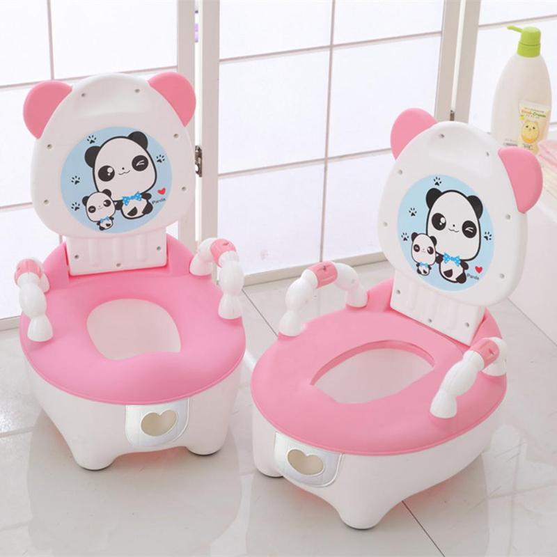 Baby Potty Toilet Bowl Training Pan Toilet Seat Children Pot Kids Bedpan Portable Urinal Comfortable Backrest Cartoon Cute Pot