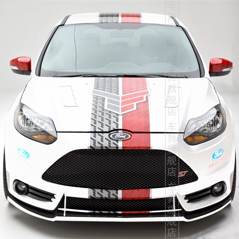 Original st racing style car whole body refit stickershigh quality vinyl painting car stickers
