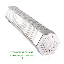 Hot Pellet Smoker Tube 12 Inches Stainless Steel Hexagon BBQ Smoker Mesh Tube Wood Pellet Storage To Add Smoke Flavor to All G