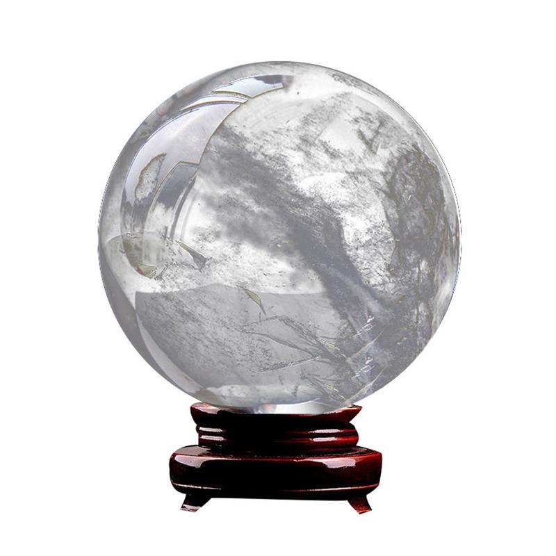 3cm Clear Natural Quartz Crystal Sphere Balls Black Obsidian Sphere Crystal Ball Home Decoration Craft 4 Colors Available