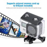 H3 Outdoor 30m Waterproof 4K video and 16MP photos 30fps Dual Screen WIFI Wide Angle Camera HD camera Kit