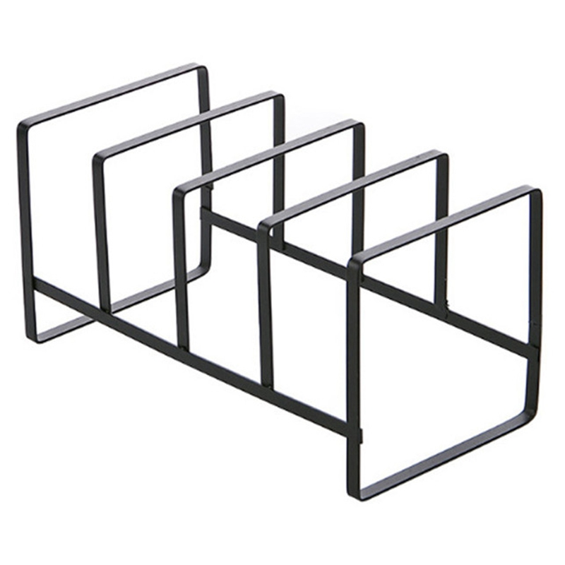 Stainless Steel Spoon Holder Pot Lid Shelf Cooking Dish Rack Pan Cover Stand Kitchen Organizer Pot Lid Rack
