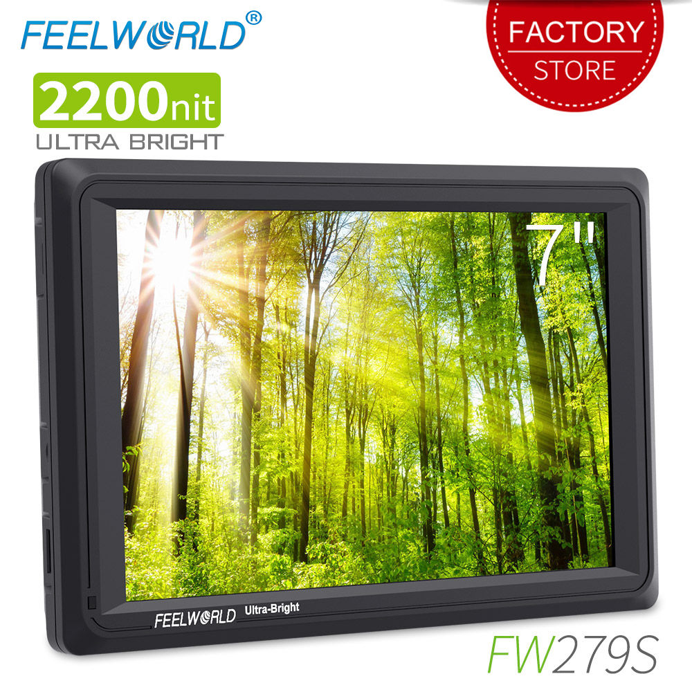 Feelworld FW279S 7 inch 3G SDI 4K HDMI 2200nit Ultra Bright On Camera Field Monitor DSLR Full HD 1920x1200 LCD IPS for Outdoors feelworld f7s 7 inch sdi 4k hdmi on camera dslr field monitor full hd 1920x1200 aluminum housing small lcd ips external display