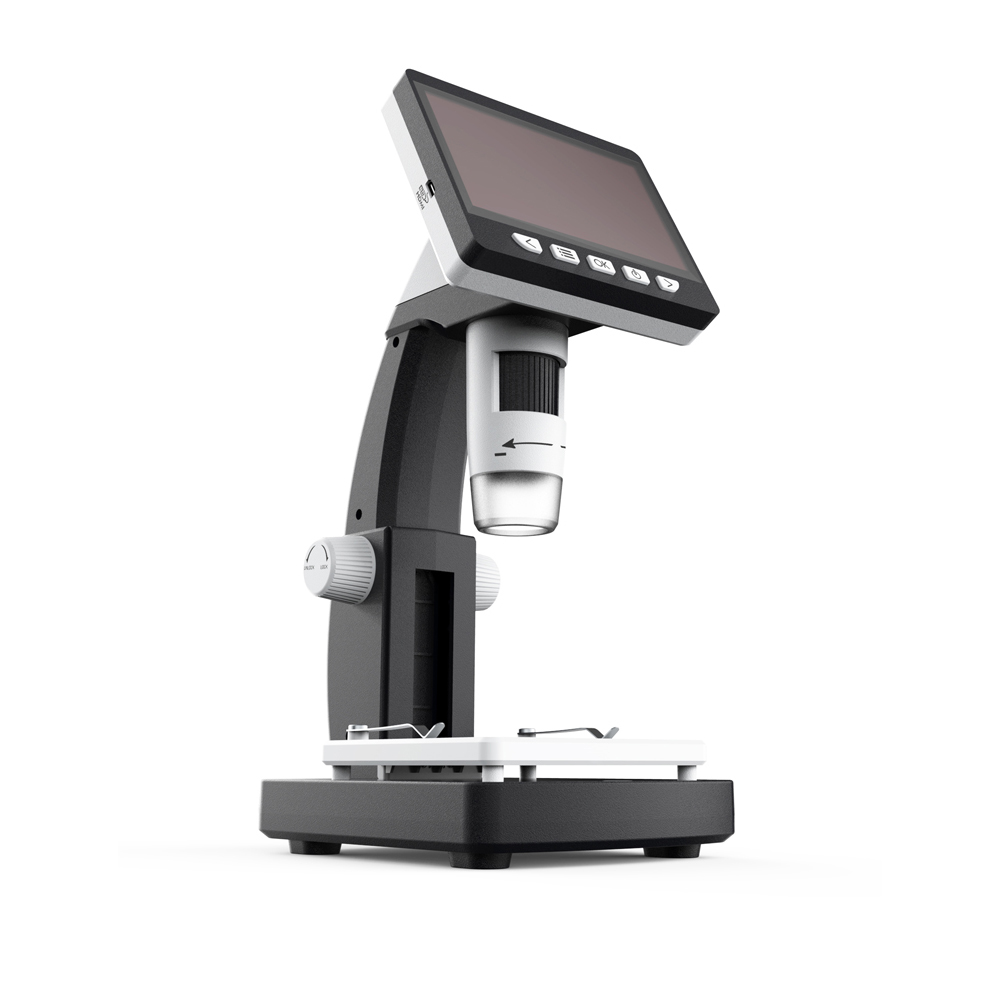 LCD Digital usb Microscope with High Brightness 8 LEDs and HD Multimedia Interface Built in Lithium
