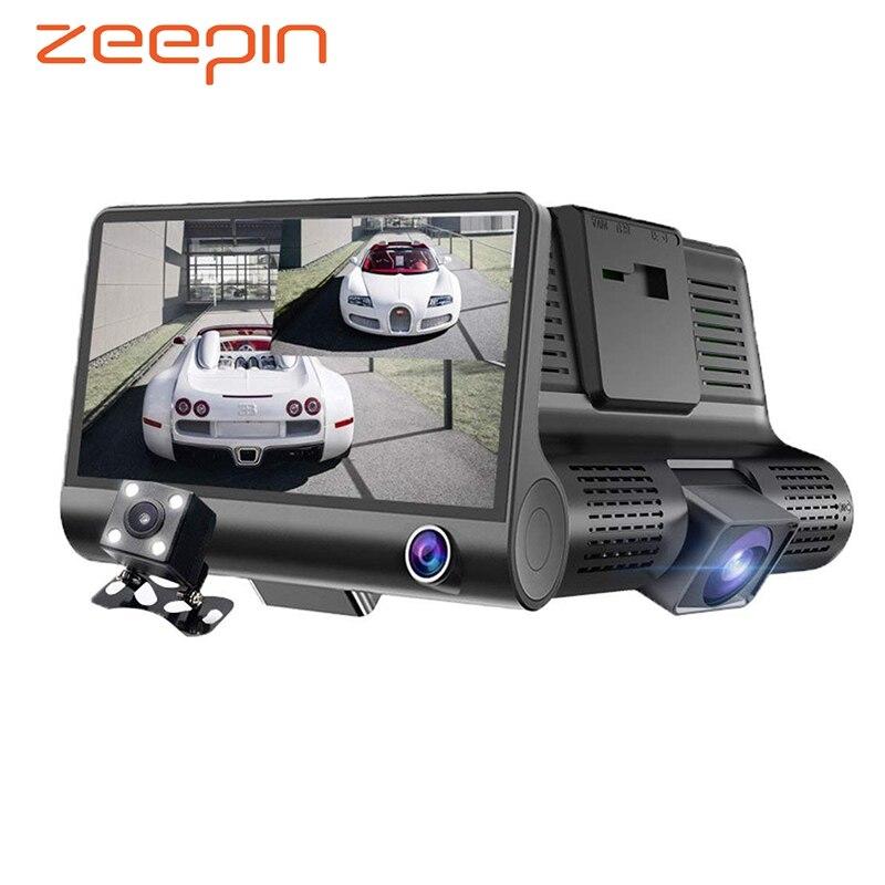 Car DVR Video-Recorder Dash-Cam Auto-Registrator-G-Sensor Dual-Lens 3-Cameras Front Rear