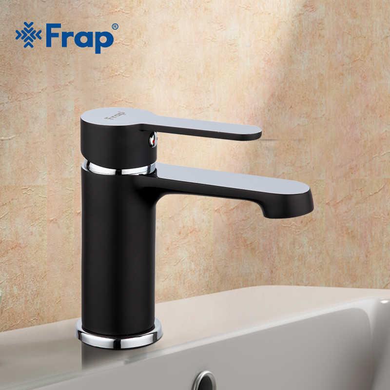 Frap novo design preto pintura em spray torneira do banheiro bacia sink toque mixer latão feito de água fria e quente bacia torneiras f1042