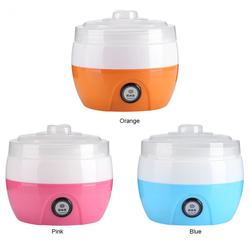Yoghurt maker 1L Automatische Yoghurt machine Huishoudelijke DIY Yoghurt gereedschap Keuken apparaat Roestvrij staal/PP tank Roze 220 V