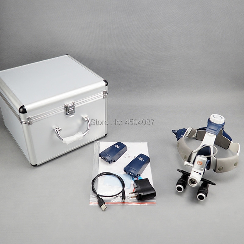 5W LED Medical Headlight Headlamp 4 0 5 0 6 0 6 5X420mm Medical Binocular Loupe