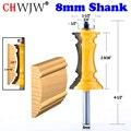 CHWJW 1 шт.  8 мм хвостовик  торцевая Форма для двери и стула  рельсовый фрезерный нож  нож для двери  нож  нож для деревообработки