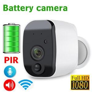 Image 1 - JIENUO Batterie WiFi Kamera 1080 p Volle HD Wiederaufladbare Powered Outdoor Indoor Sicherheit IP Cam 110 Weiten Blickwinkel wireless 2 weg