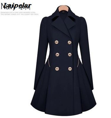 Autumn new windbreaker female long section Korean version of the self cultivation jacket single breasted fashion large size wome in Trench from Women 39 s Clothing