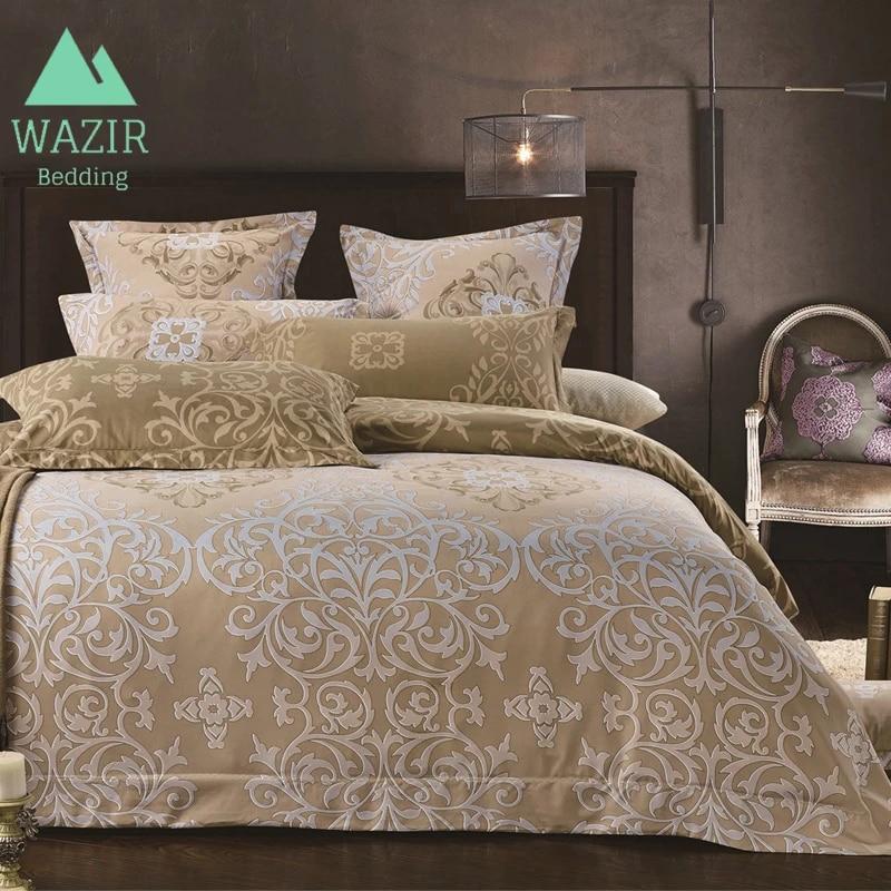 us 28 9 25 off wazir luxury palace style high grade beige bedding set duvet cover set pillowcase comforter bedding sets bedclothes bed linen bedding