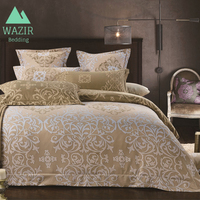 WAZIR Luxury Palace Style High Grade beige Bedding Set Duvet Cover set Pillowcase comforter bedding sets bedclothes bed linen