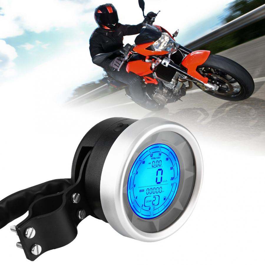 LCD Multi functional velocimetro moto Motorcycle Multi functional Overspeed Warning motorcycle accessories ABS + Iron-in Instruments from Automobiles & Motorcycles    1