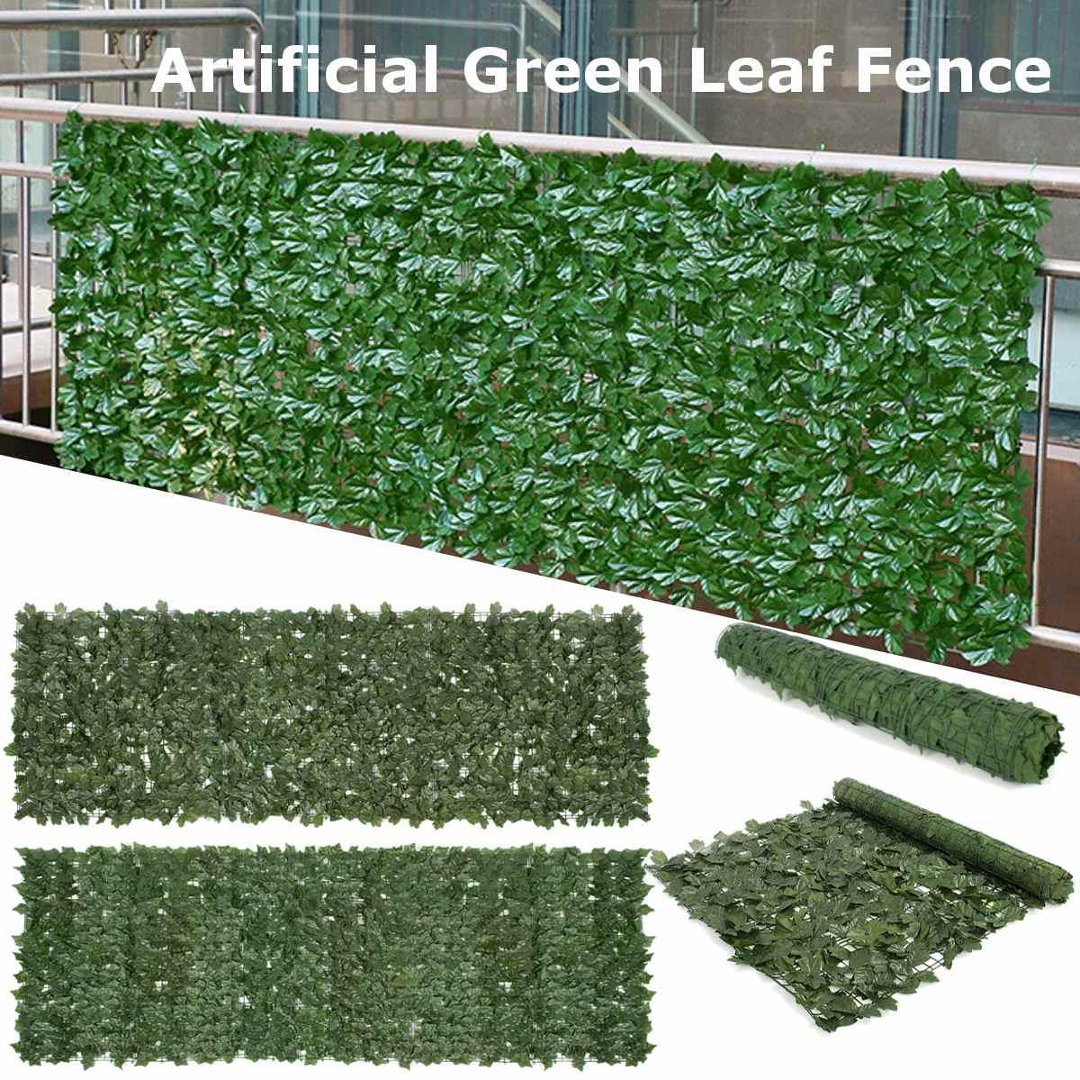Plantes artificielles clôture décoration jardin cour pour la maison mur aménagement paysager vert fond décor feuille artificielle branche Net