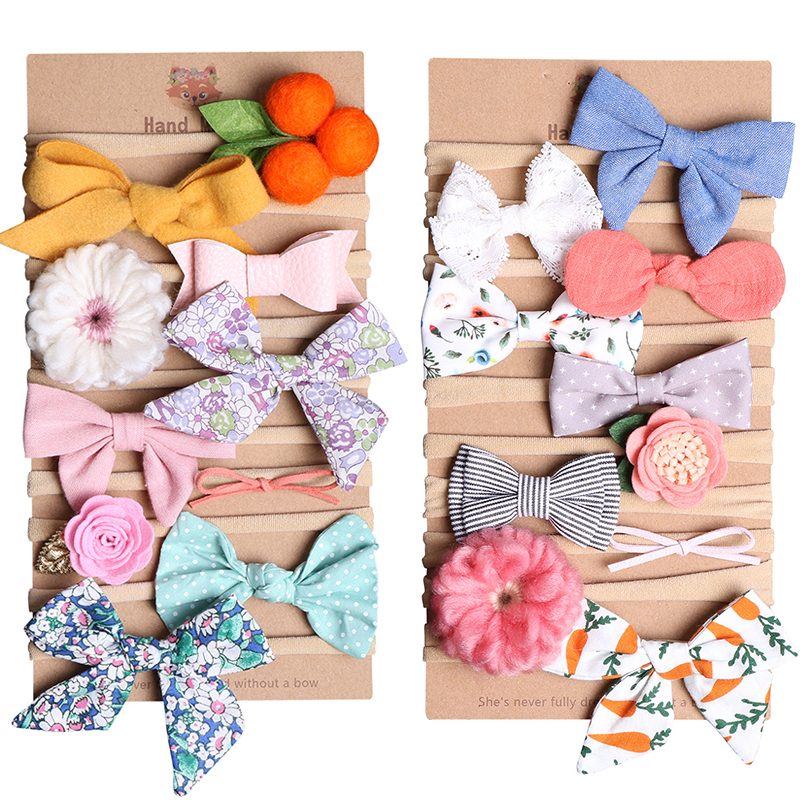 LNRRABC Solid Colorful Elastic Hair Bands Girls Ribbon Bows Girls Hair Circle Tie Rope Hair Accessories Headwear Holiday Gifts