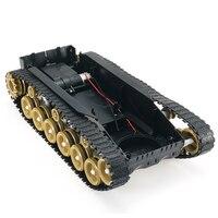3V 9V DIY Shock Absorbed Smart Robot Tank Chassis Crawler Car Kit With 260 Motor For SCM
