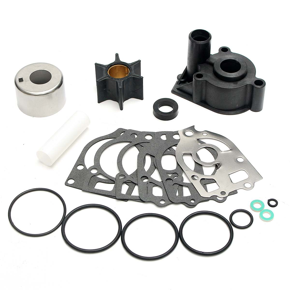 Mariner Water Pump Impeller Repair Kit For Mercury Mercruiser Alpha 1 46-96148T8 Boat Parts & Accessories 6 Blades Rubber+Metal