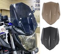 Motorcycle Windshield Windscreen w/ Mounting Bracket Airflow Wind deflector Screen for 2016 2017 Yamaha MT 03 MT 03 MT03
