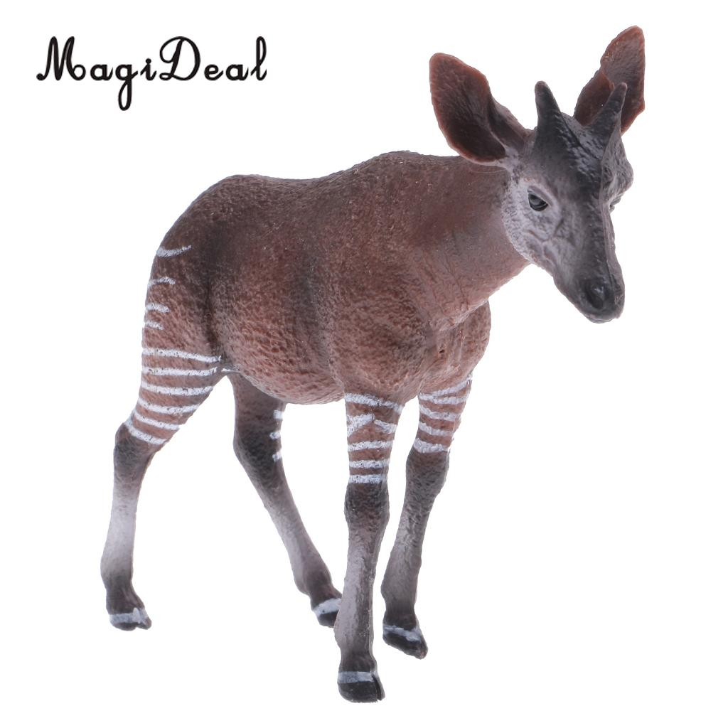 MagiDeal 1Pc Realistic Okapi Wildlife Zoo Animal Figurine Model Action Figure For Kids Toy Gift Decoration