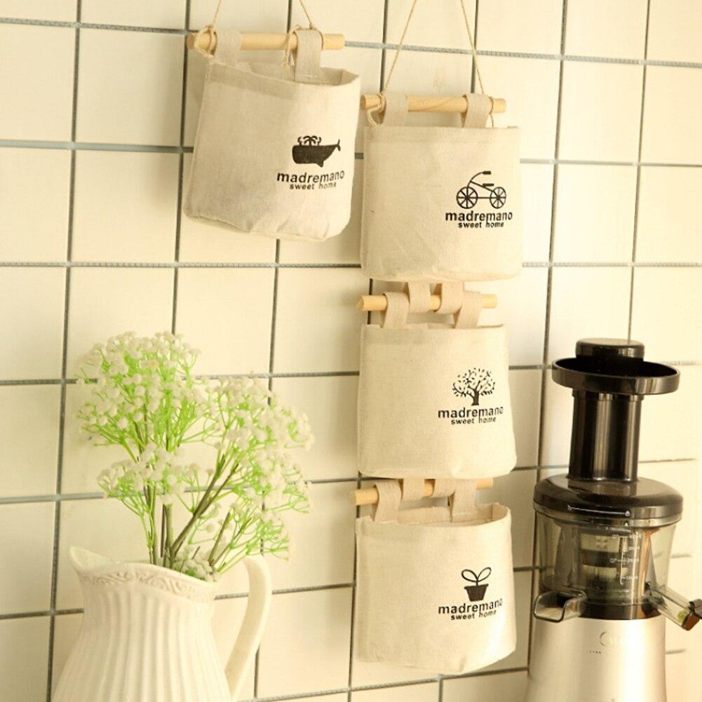 Closet Organizer Tree Hanging Storage Bags Case Over The Door Wall Baskets Self Adhesive Hooks Kitchen Hanging Flower Pot Holder