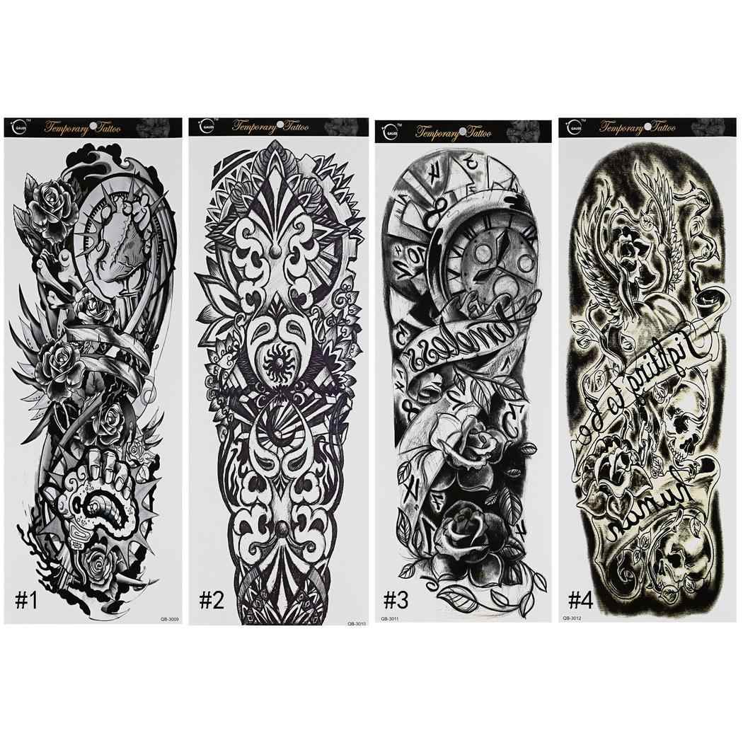 Sleeve Men Pictures Arm Sticker As Temporary The For 4 Full Waterproof Women Tattoo Patterns Show Temporary Tattoos Aliexpress