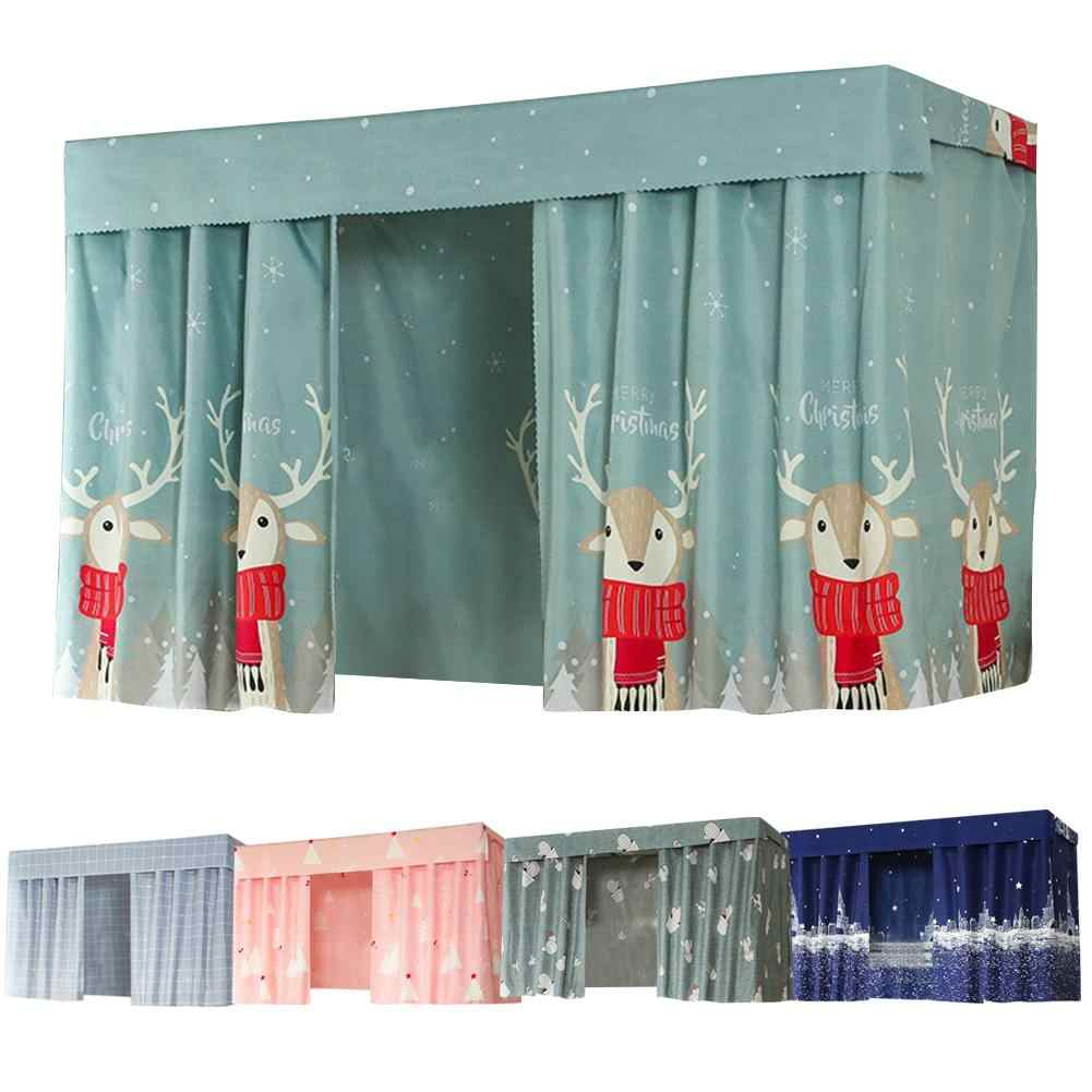 Dormitory Single Bed Shade Curtain Shade Breathable Upper Bunk Curtain Bed Colorfast With A Wide Range Of Patterns