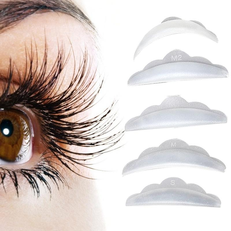 5 Pairs Silicone Eyelash Perming Pad Lashes Rods Shield Lifting 3D Curler Makeup Accessories Tools