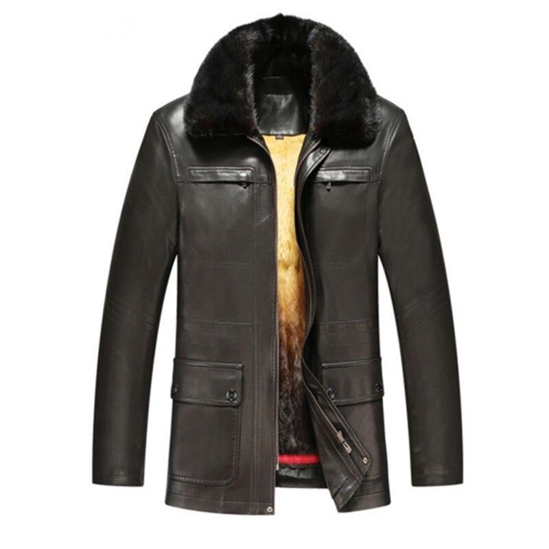6xl hommes en naturel cuir italien veste laine d 39 hiver 2. Black Bedroom Furniture Sets. Home Design Ideas