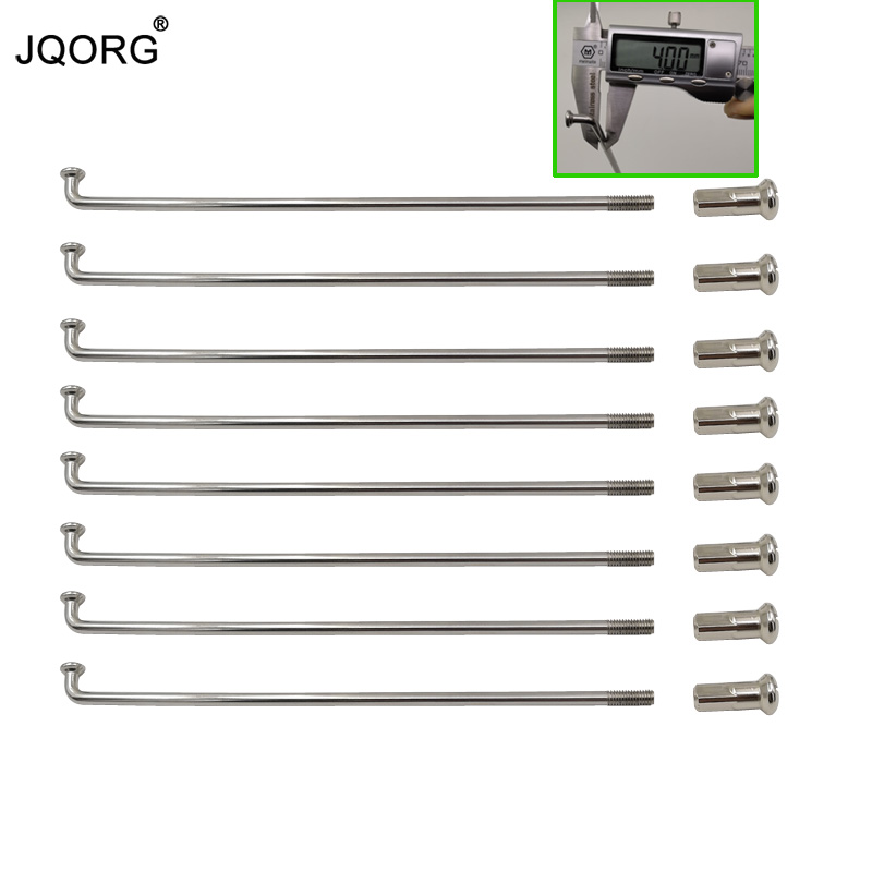 JQORG 50 Pieces A Lot Motorcycle Spokes Diameter 4 0mm J BEND 304 Stainless Steel Material