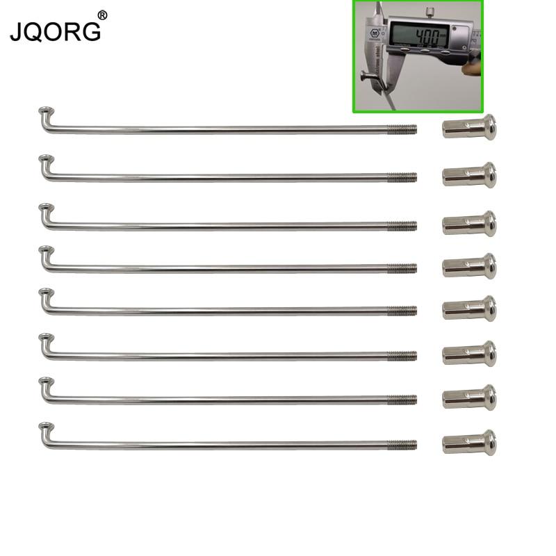 JQORG 50 個ロットオートバイスポーク直径 4.0 ミリメートル J BEND 304 ステンレス鋼材料モトクロスホイールスポークとニップル  グループ上の スポーツ & エンターテイメント からの 自転車のスポーク の中 1