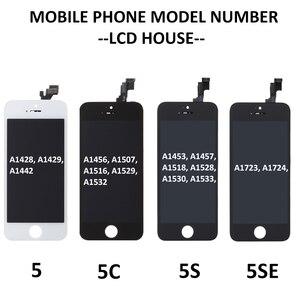 Image 4 - סט מלא הרכבה LCD מסך עבור iPhone 5/5C/5S/SE LCD תצוגת מגע Digitizer מסך מלא החלפת Pantalla + לחצן בית