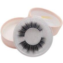 SHIDISHANGPIN 1 pair false eyelashes natural long hand made full strip lashes 3d mink individual extension