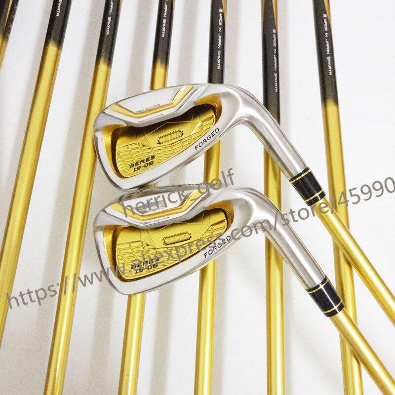 Nouveau clubs De Golf pour hommes EST-06 golf fers 4-11AW.SW Fers clubs avec Graphite De Golf arbre R ou S flex fers clubs set Livraison gratuite