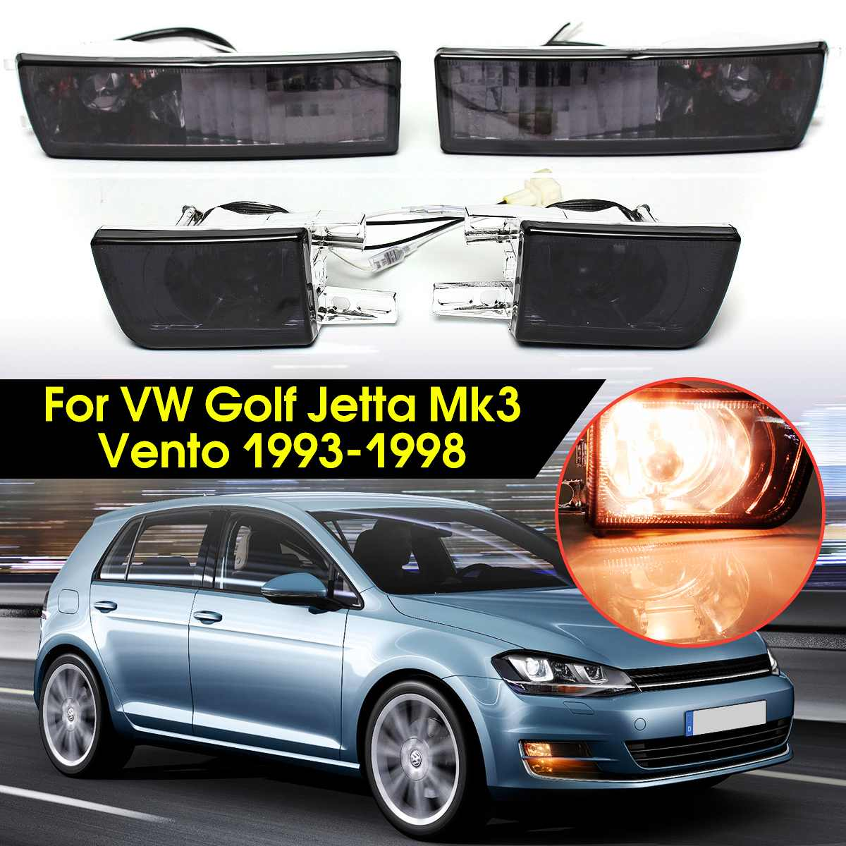 UK Car Daytime Running Light DRL LED Daylight Fog Lamp for Ford Mondeo 11-12