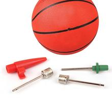 Outdoor Stainless Steel Sports Inflating Needle Pin Nozzle Football Basketball Soccer Ball Air Pump Set недорого