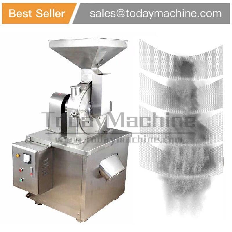 Industrial de pequena escala máquina de moagem de coco, mini máquina de moer, especiarias/Pimenta/Grão Snus Triturador Máquina de Moer Em Pó