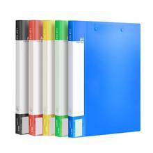 Складная пластиковая папка с Двойным Зажимом, папка для файлов, для обмена, для обучения, для хранения данных, для студентов, стационарный рабочий стол, офисные принадлежности