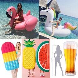 22 Style cygne géant pastèque flotte ananas flamant anneau de natation licorne gonflable piscine flotteur enfant et adulte jouets d'eau boia