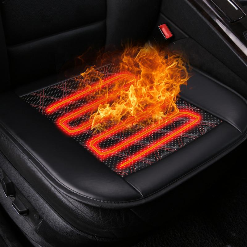 24W Car Heated Seat Cushion Anti-slip Three Mode Comfortable Fabric for Winter