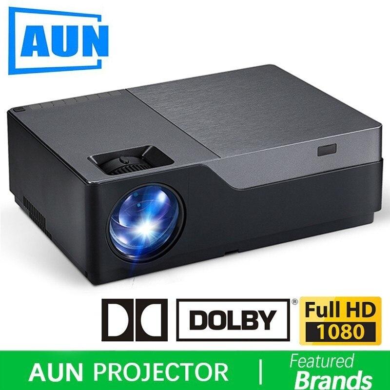 AUN Full HD Projecteur, 1920x1080 Résolution. 300 pouce Écran Plus Grand Théâtre, Soutien AC3. 5500 Lumens. (En option Android WIFI)