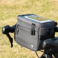 Waterproof Bike Bag For Bicycle Handlebar Bag For Frame Bicycle 4.5L Cycling Frame Bag For Bicycle Basket For Bicycle