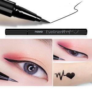 Image 4 - NOVO eyeliner beauty makeup beginners waterproof and sweat not dizzy catch wine red brown liquid eyeliner pen