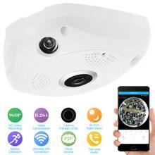 KKmoon 360 градусов панорамная камера IP 960P HD 1.3MP IP камера Wifi двухстороннее аудио рыбий глаз Панорамное охранное видеонаблюдение внутри помещения Камера