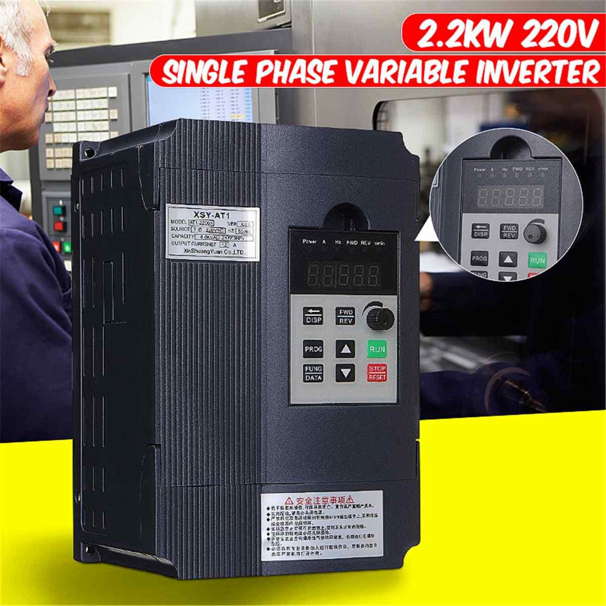 2200 W 2.2KW 220 V 3PH monophasé Variable fréquence moteur régulateur de vitesse convertisseur inverseur VFD lecteur onduleur-International