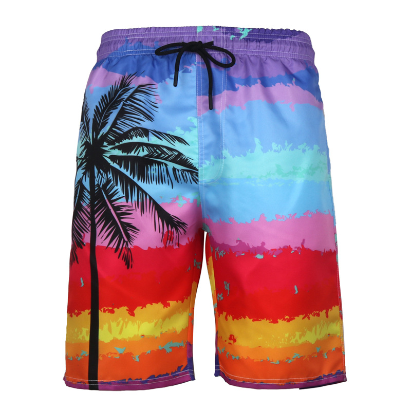 Quick Dry Men's Floral Beach Pants 3D Print Board Shorts Gay Surf Siwmwear Bermuda Swim Short Homme Knee Length Swim Wear 6XL