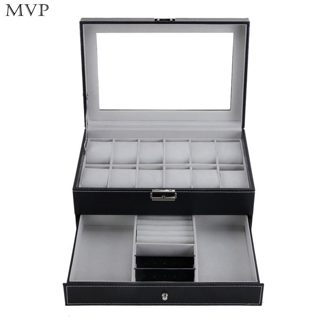New Jewelry Watch Display Box Collection Case Holder Organizer Double-layers Storage Exhibition Hall Shop Home etcNew Jewelry Watch Display Box Collection Case Holder Organizer Double-layers Storage Exhibition Hall Shop Home etc