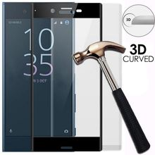9H Hardness Thickness 3D Curved Full Cover Tempered Glass Screen Protector Film For Sony Xperia  X XZ XA XA1 XZ1 Ultra Compact