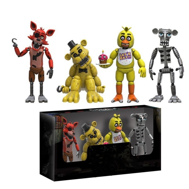 New Mini 5cm Five Night At Freddy's FNAF Action Figures Doll Toys Foxy Freddy FNAF PVC Figure Toys Children Kids Christmas Gifts